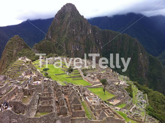 The Machu Picchu in the Andes Mountains Peru, above the Urubamba River valley