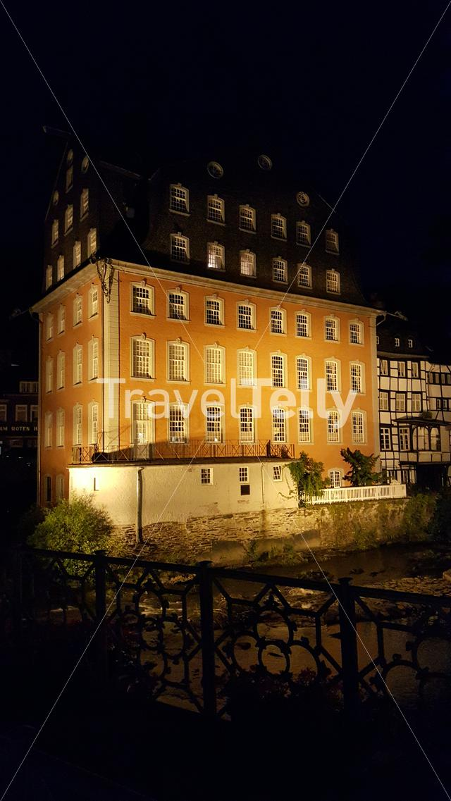 Red House Monschau by night
