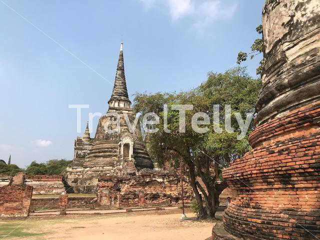 The Wat Phra Sri Sanphet was the most important temple in the Ayutthaya Kingdom, Thailand