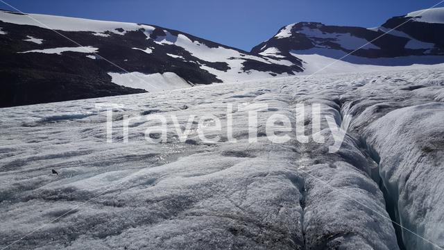 Ice and snow at Jotunheimen National Park Norway