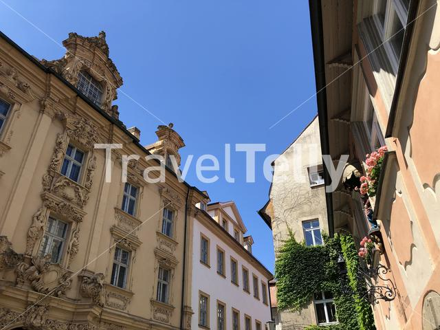 Architecture in the old town of Bamberg, Germany