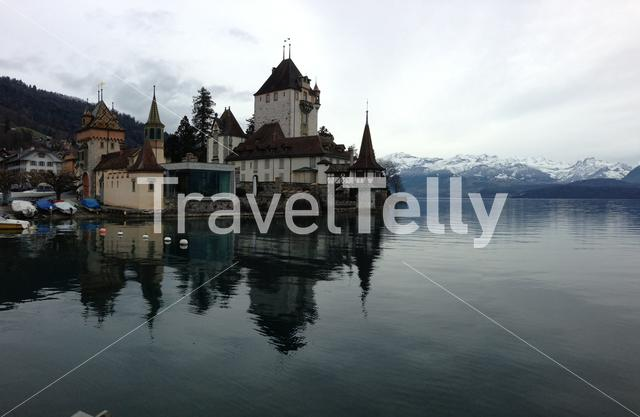 Oberhofen Castle at the Thunersee in Switzerland