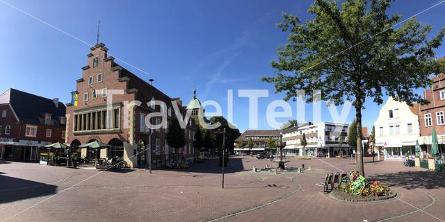 Panorama from the old town square in Vreden, Germany