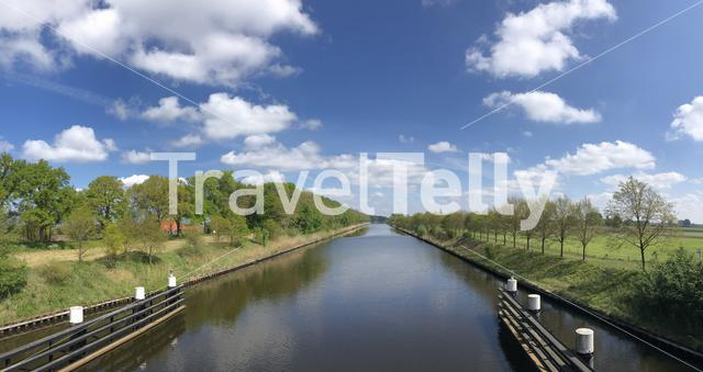 Panorama from the Twente canal around Stokkum, Overijssel, The Netherlands