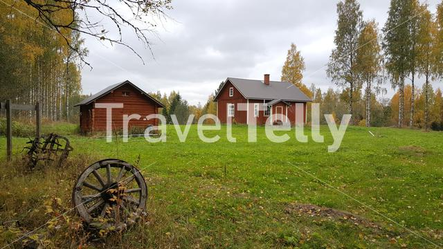 Old farm in Koivusuo Strict Nature Reserve Finland