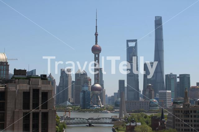 Shanghai skyline in China