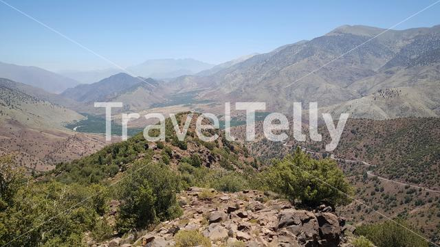 Scenery from Toubkal National Park in Morocco, Africa