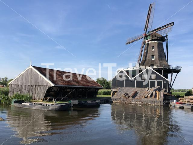 Windmill De Rat in IJlst, Friesland The Netherlands