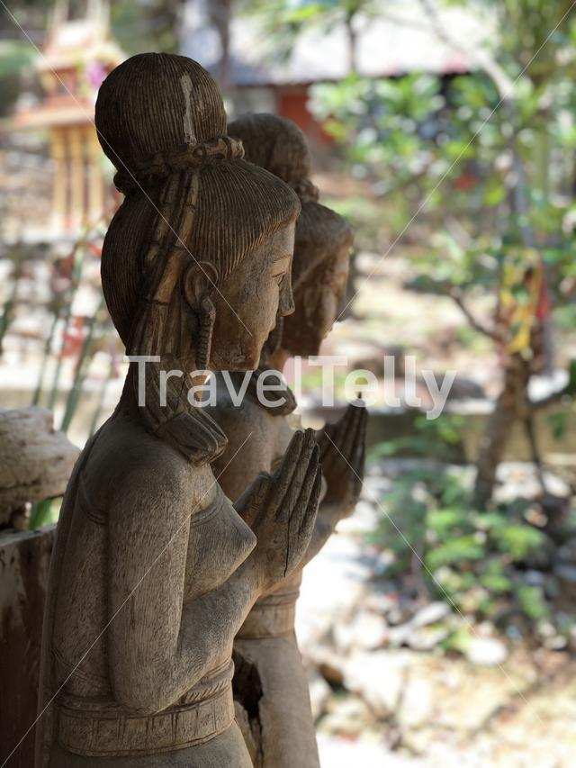 Wood statue on Koh Samed island in Thailand