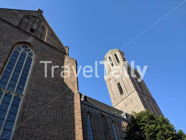 "The tower of the ""Onze Lieve Vrouwe"" church in Zwolle, The Netherlands"