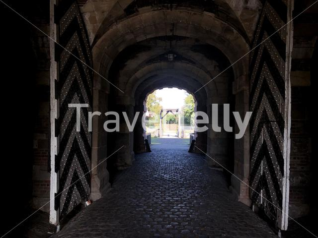 Entrance of the Wesel citadel in Germany