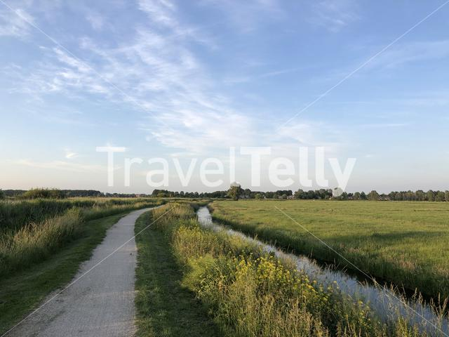 Path towards Sneek in Friesland, The Netherlands