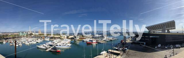 Panorama from the Port Forum in Barcelona, Spain