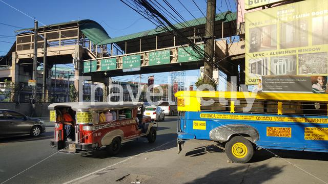Typical Jeepneys in streets of Manila