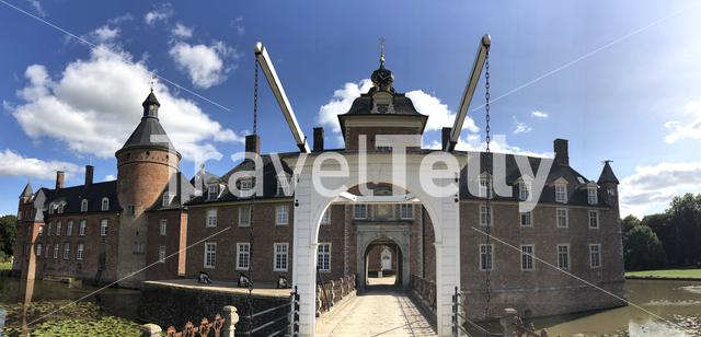 Wasserburg Anholt castle panorama in Munsterland, Germany