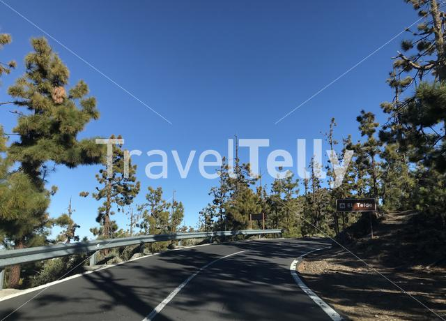 Road through Teide National Park at Tenerife