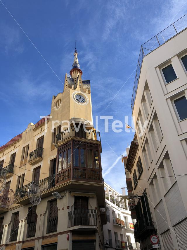 Building in the old town of Sitges, Spain