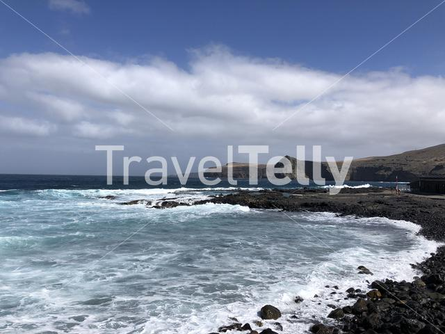 Playa Punta Gorda in Agaete on the island Gran Canaria