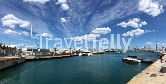 Panorama from the Port de Valencia in Spain