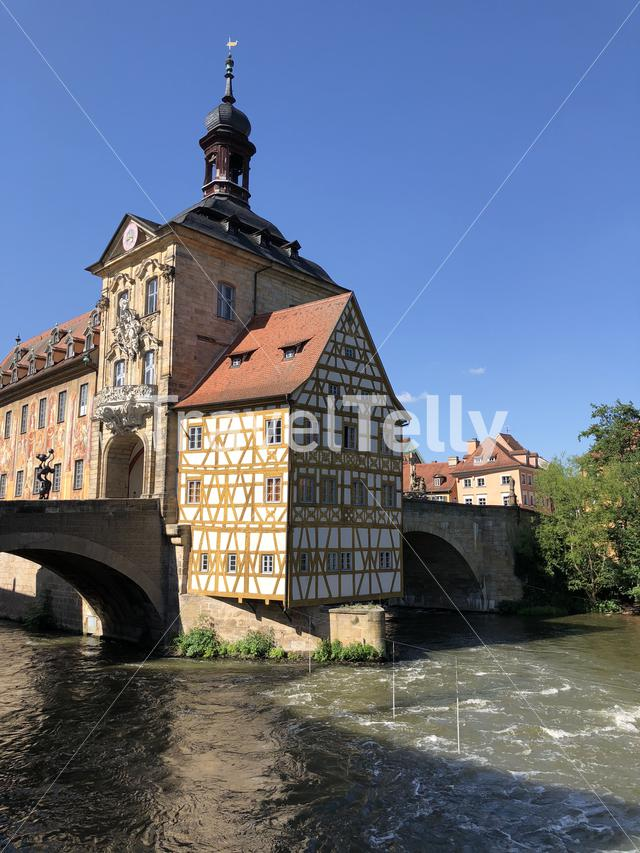 The old city hall in Bamberg Germany