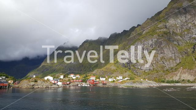 Clouds above the village A in Norway