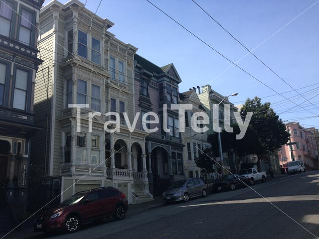 Houses in Hayes street, San Francisco, California, United States