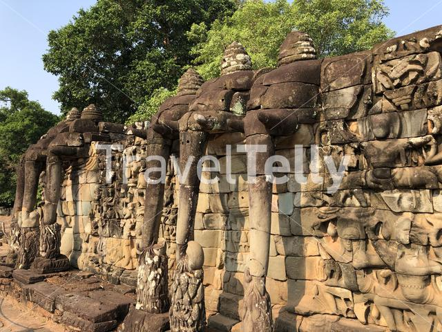 Terrace of the Elephants in Cambodia