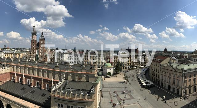 Cracow main square panorama