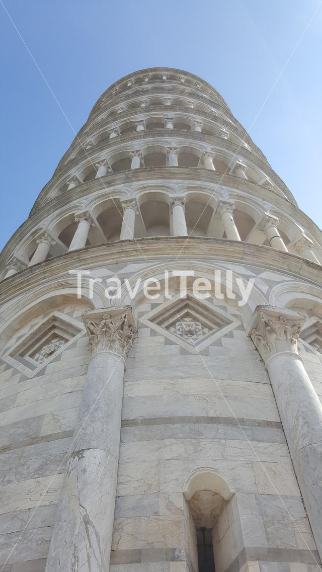 Leaning Tower of Pisa from the low