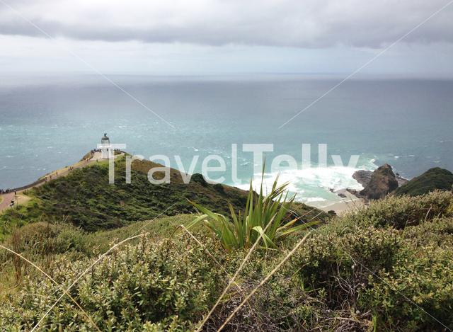 Lookout from Cape Reinga the northwesternmost tip of the Aupouri Peninsula, at the northern end of the North Island of New Zealand