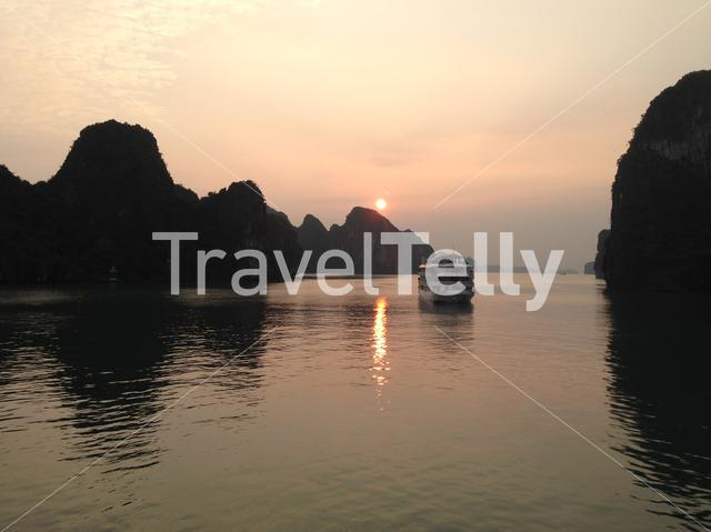 Sunrise at Ha Long Bay in Vietnam