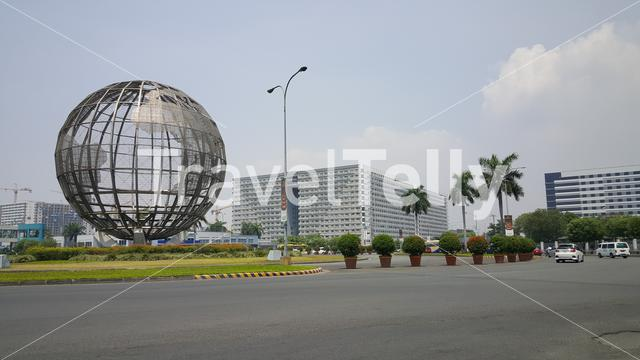 Big Globe in the streets of Manila, Philippines