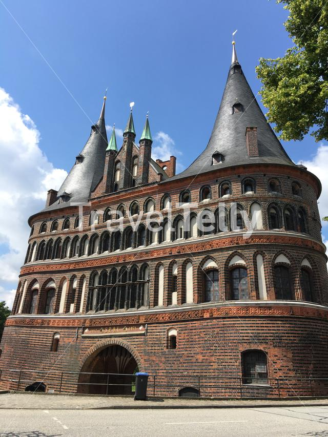 The Holsten Gate (City side) in Lübeck Germany