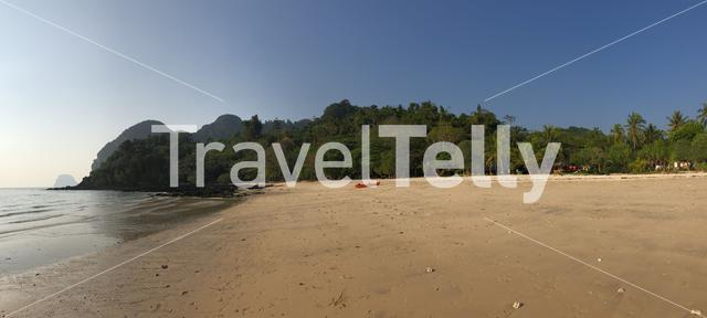 Panorama from Farang Beach on Koh Mook island in Thailand