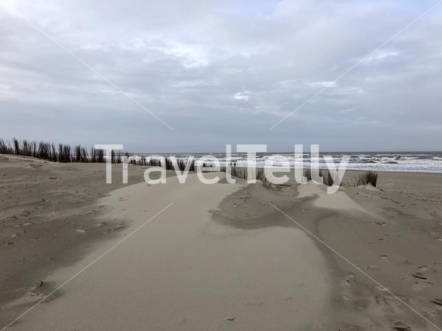 Beach on Texel in The Netherlands