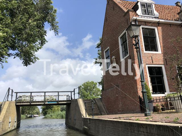 Bridge over a canal in Franeker, Friesland The Netherlands