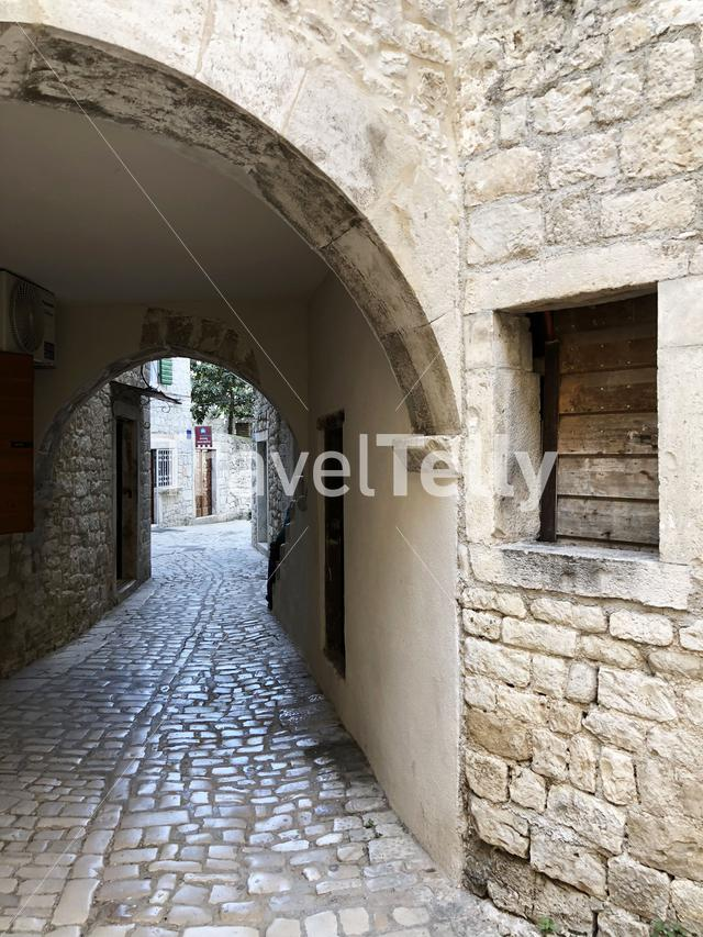 Gate in the old town of Trogir, Croatia