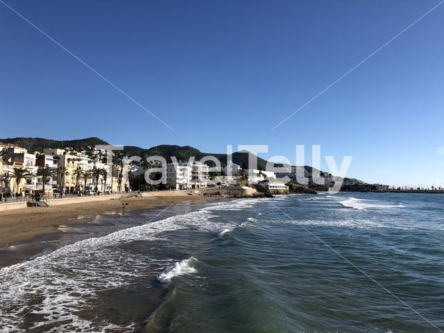 San sebastian beach in Sitges, Spain
