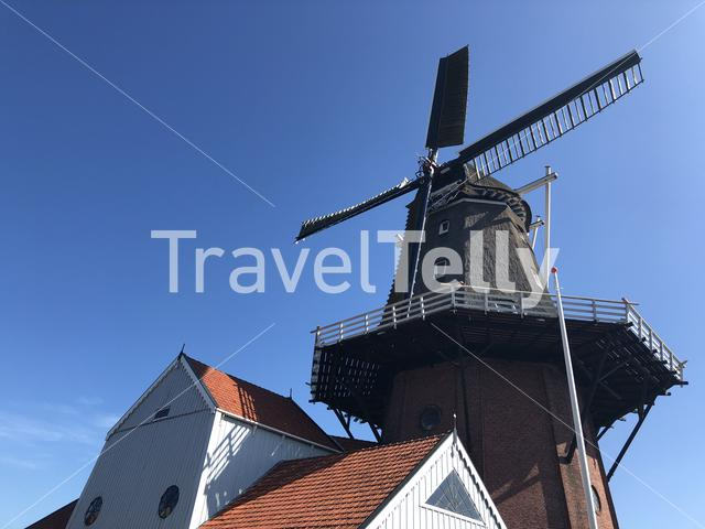 Windmill in Burdaard, Friesland, The Netherlands