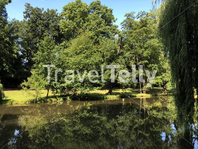 Lake at the Bürger Park in Braunschweig, Germany
