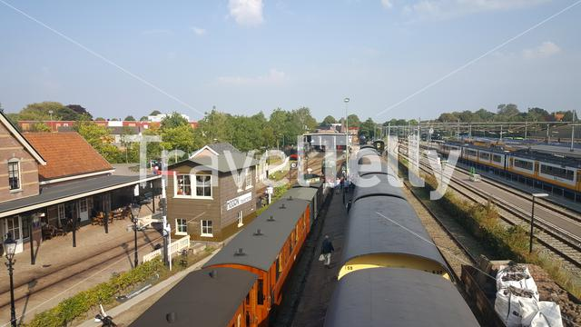 Museum steam train from Hoorn to Medemblik at station