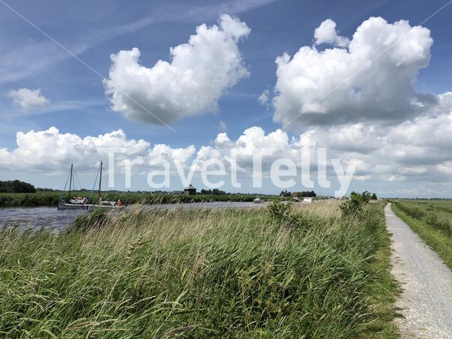 Sailing and cycling in Friesland The Netherlands