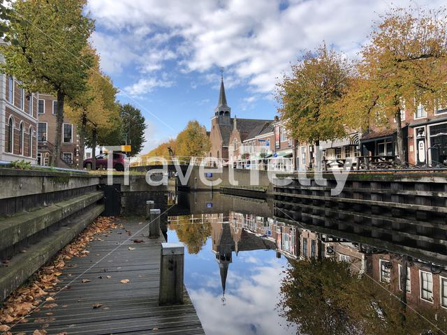 Autumn in the town Balk in Friesland, The Netherlands