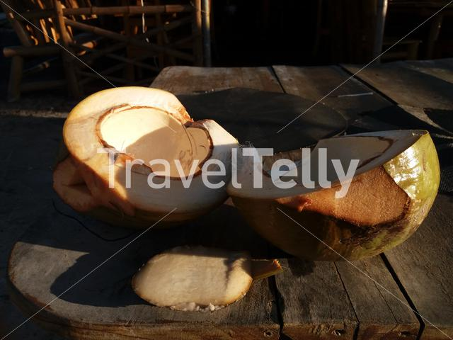 Coconut on sell by locals
