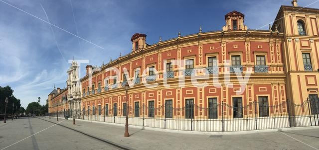 Panorama from the Palacio de San Telmo and now the seat of the presidency of the Andalusian Autonomous Government in Seville Portugal
