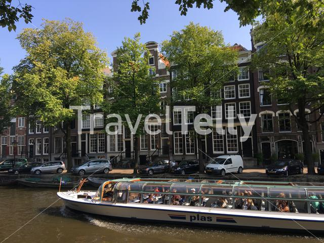 Canal cruise in the canals of Amsterdam The Netherlands