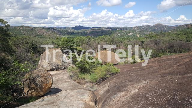 Mountain range scenery at Matobo National Park in Zimbabwe