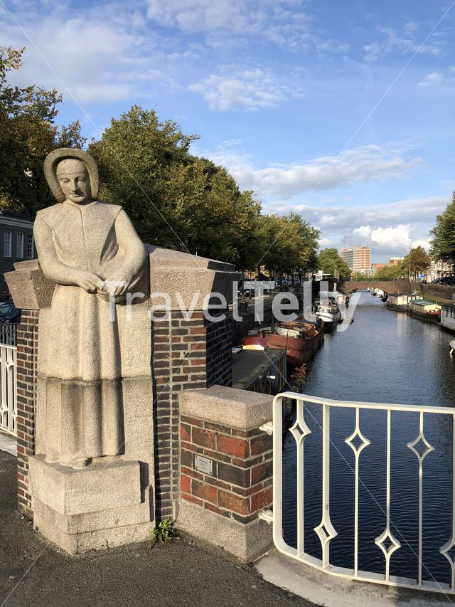 Statue at the Noorderhaven in Groningen The Netherlands