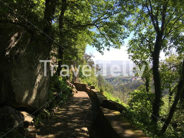 Footpath towards the Castelo dos Mouros in Sintra Portugal