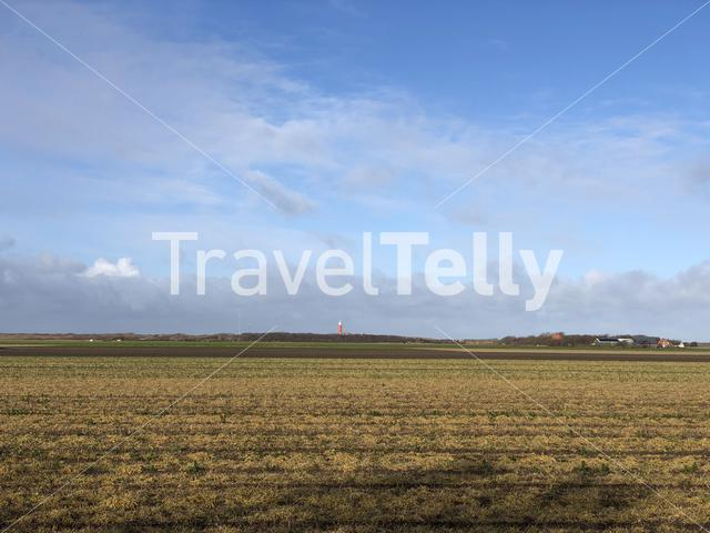 Landscape from Texel island in The Netherlands